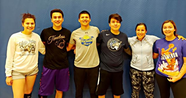 Sugar and Spike won the Competitive League championship in the Watertown Park and Rec Coed Volleyball League. Team members include, from left, are Kylee Deutsch, Jordan Vermillion, Dion Iyarpeya, Seth Keeble, Nicole Pratt and Megan Iyarpeya.