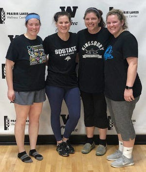 Team Awesome won the competitive division championship recently in the Watertown Park and Rec's Adult Women's Volleyball League. Team members include, from left, Becky Evans, Tru Boldt, Tina Belden and Tricia McCloud. Not pictured is Brityn Davies.