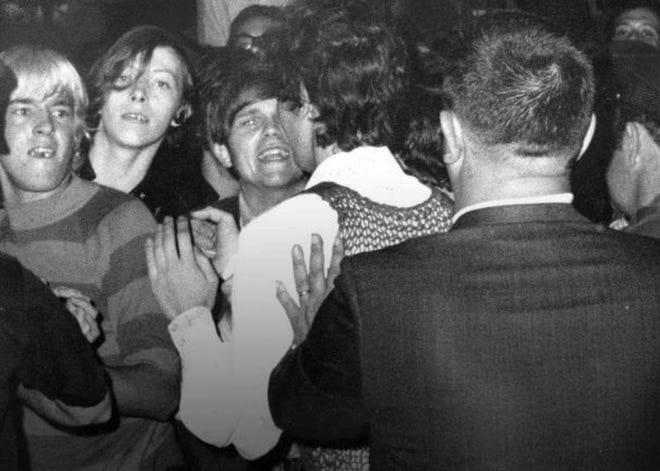 On the night of June 27, 1969, members of the LGBTQ+ community were visiting the Stonewall Inn, one of the few openly LGBTQ-friendly bars in New York City, when the police raided it. Fed up with being marginalized, members and allies of the community gathered by the hundreds to riot in protest of police harassment, galvanizing the gay rights movement.