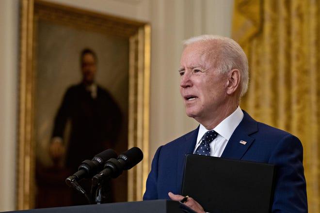 President Joe Biden on April 15, 2021. (Andrew Harrer/Pool/CNP via ZUMA Wire/TNS)