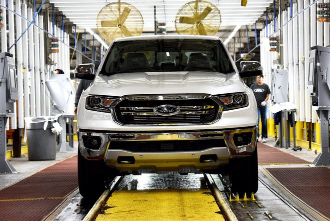 The Michigan factory that makes Ford's popular Ranger pickup -- and that will soon begin manufacturing the Bronco SUV -- will be idled for at least two weeks amid a global shortage of computer chips, the company said today.