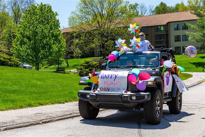 This decked out vehicle was part of the Mother's Day parade Saturday at Meadowood Retirement Center. (Courtesy photo)