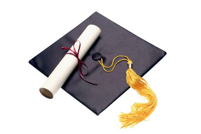 Diploma and mortar board