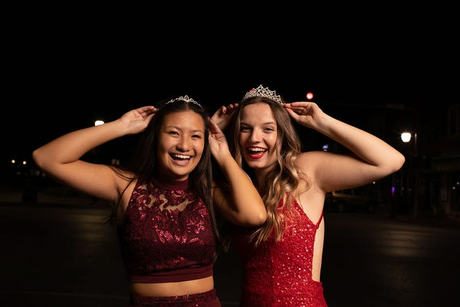 2020 Brickhouse Ball (left) Princess Delaney Collier and Queen Phia Foley (Daughter of Tim & Sherilyn Foley). (Connie Etter Photography)