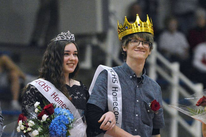 Indian Creek seniors Paige Wilson and Johnny Caffero were named homecoming queen and king. (Nathan Pace / Correspondent)