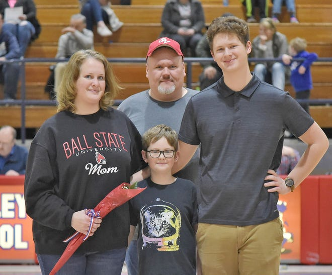 OV band senior Travis Floyd is the son of Kim and Tony Floyd. His future plans are to attend college, get a degree in music education and become a band director or music teacher. (Shawna Rush / Spencer Evening World)