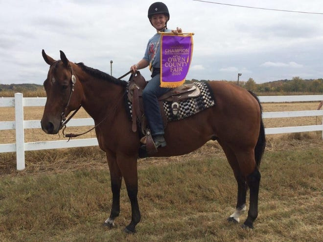 Lola James with Nelson, Grand Champion Western Horsemanship
