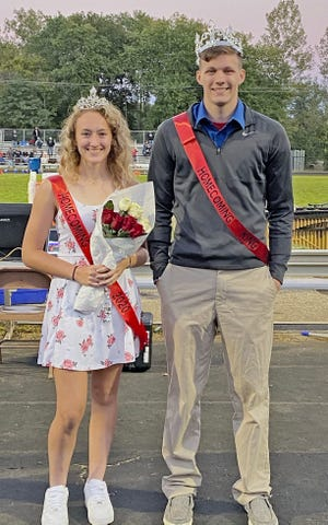Owen Valley seniors Mikayla Miller and Stephen Atkinson were crowned 2020 OVHS Homecoming Queen and King last Friday. (Amanda York / Spencer Evening World)