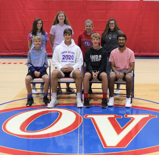 Sophomore and junior princes and princess candidates include, front row: Tate Conley, Nathan Goss, Drew Kristoff and Dev Patel. Back row: Emma Bault, Reagan Martin, Kaley Phillippe and Josie Wesley. (Submitted / Spencer Evening World)