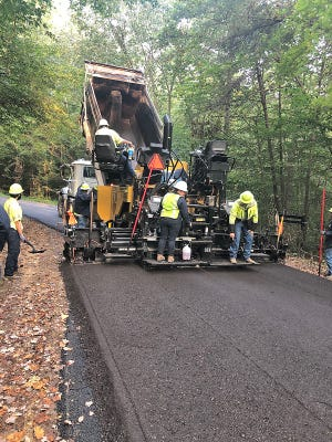 Crews with the Owen County Highway Department used millings to resurface both Pine Lake and Pine Wood roads. (Submitted / Spencer Evening World)