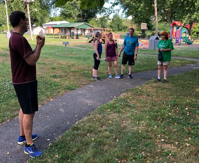 YMCA 5K participants arrive at Brooklyn Kids Park Wednesday. (Courtesy Photo)
