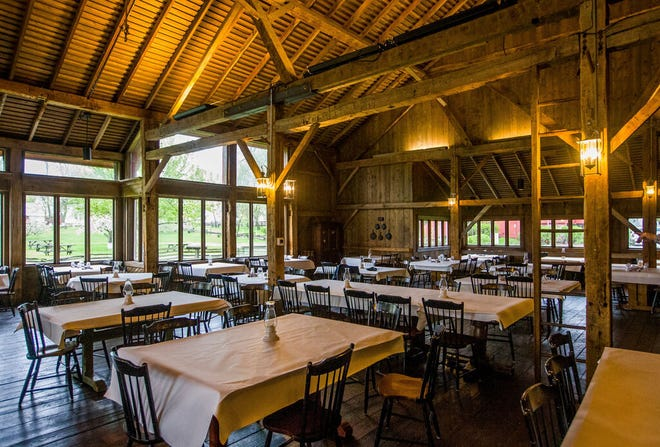 This May 2020 Tribune file photo shows the inside of what was formerly LaSalle Farm & Table restaurant, located at The Barns at Nappanee, Home of Amish Acres. The space will become The Barns FarmTable, where, owners say, traditional Amish country cooking will be served.