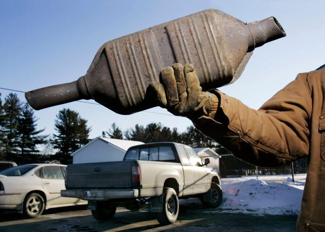 Catalytic converters are becoming popular targets for theives.