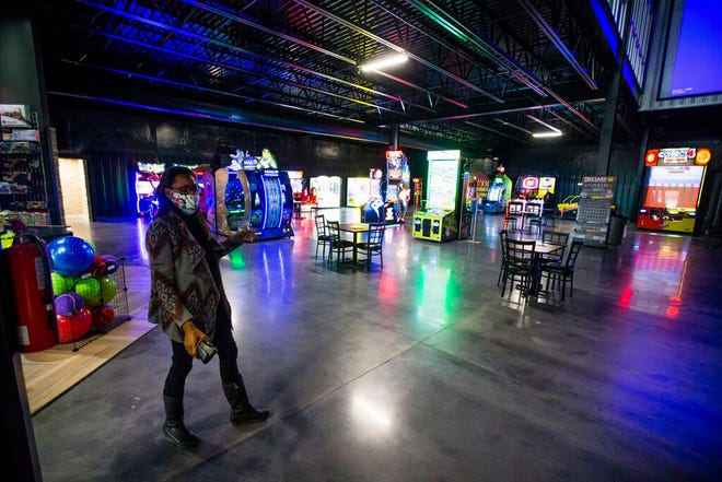 Generations Adventureplex co-owner Theresa Cruthird talks about the arcade area at the new business in Mishawaka.