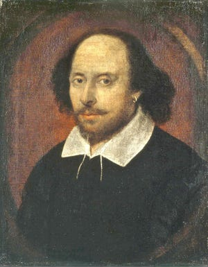 This portrait of William Shakespeare may have been painted by John Taylor between 1600 and 1610.