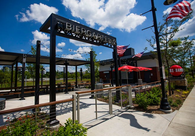 The Ball Band Biergarten is at Beutter Riverfront Park in Mishawaka.