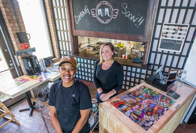 Partners Kimiko Hunt, left, and Melany Gotsis will open Meek & Melz Curbside Cafe inside the Emporium building in South Bend.
