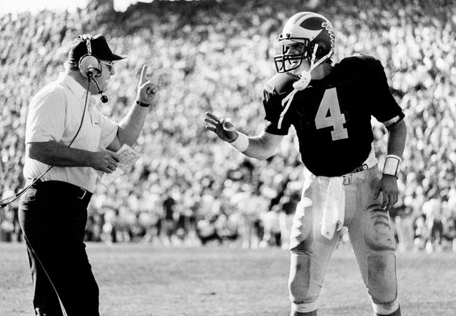 Jim Harbaugh played for Bo Schembechler at Michigan.