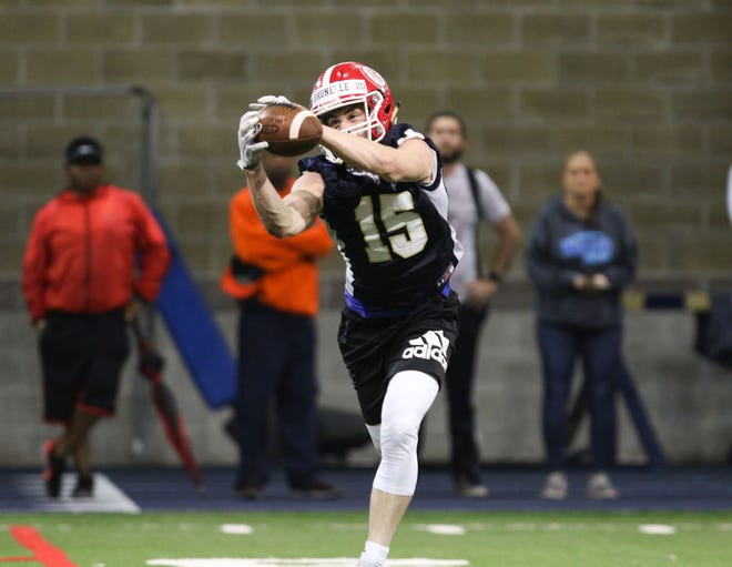 Former Notre Dame wide receiver Jay Brunelle will transfer to Yale for his sophomore season. Photo: Chad Weaver, South Bend Tribune
