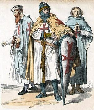 """With the papal bull """"Omne datum optimum,"""" Pope Innocent II endorses the Order of the Poor Knights of Christ and of the Temple of Solomon (Knights Templar) on March 29, 1139. (Courtesy image)"""