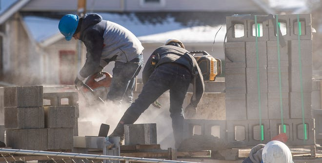 Work was underway in January on The Bentley Apartments on North College Avenue, a new luxury complex expected to be ready for occupancy in August. Bloomington has a great variety and volume of rental units. (Rich Janzaruk / Herald-Times)