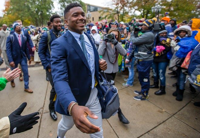 Former Notre Dame quarterback Brandon Wimbush hopes to help student-athletes take advantage of name, image and likeness possibilities when the NCAA eventually establishes its rules to allow student-athletes to be compensated from their personal brands.