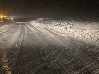 County Highway crews spent the better part of the last several days digging out Owen County citizens after the heavy snowfall that began Sunday evening. Locally, residents reported anywhere from 8-12 inches of the white stuff, unofficially. (Submitted / Spencer Evening World)