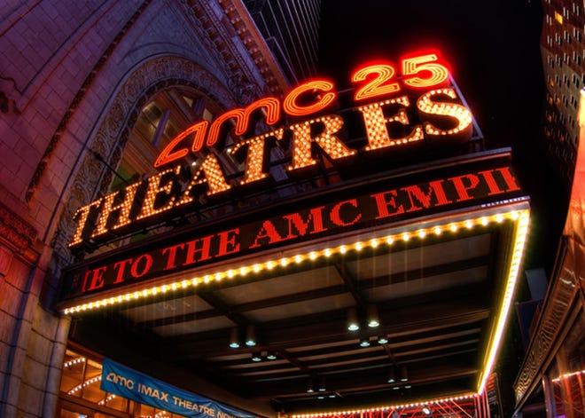 An AMC theater marquee.