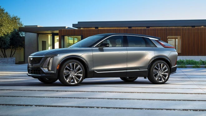 In a surprise move, Cadillac priced its new 2023 Lyriq electric SUV at just under $60,000. (Cadillac)