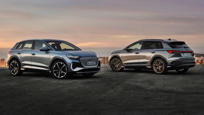 Audi plans to sell the 2022 Q4 E-tron electric SUV for less than $45,000 when it goes on sale by the end of 2021. (Audi AG)