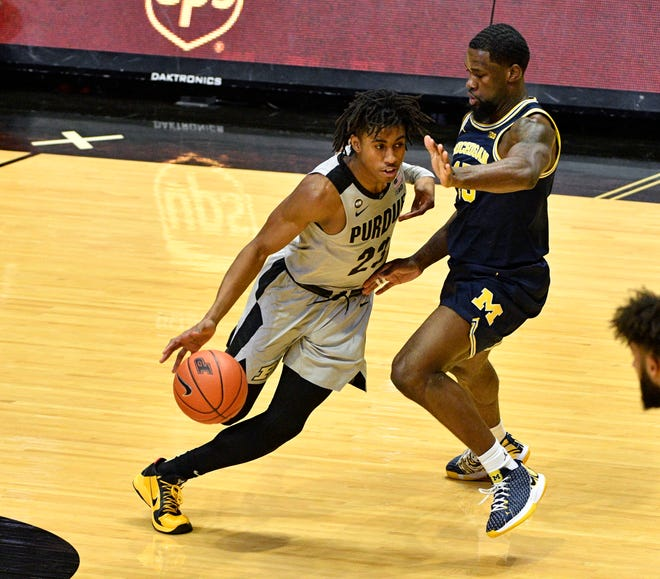 Purdue guard Jaden Ivey (23) is regarded as the best in a bunch of great young Boilermakers.