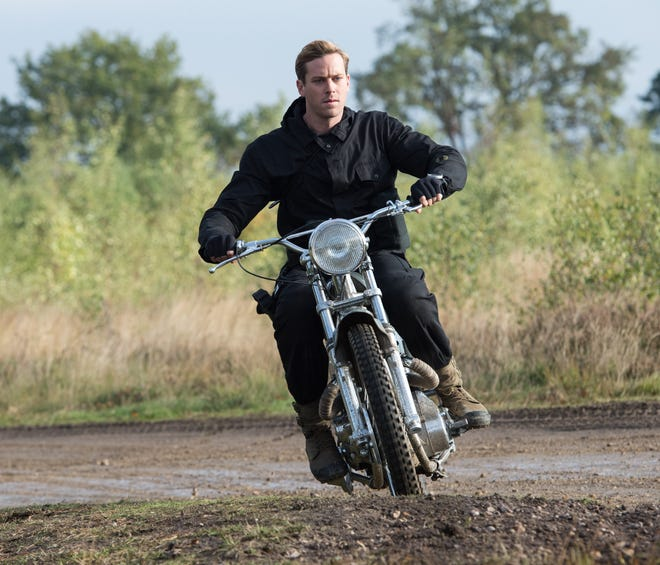 """Armie Hammer, shown here in """"The Man From U.N.C.L.E.,"""" may well be driving his career off a cliff."""
