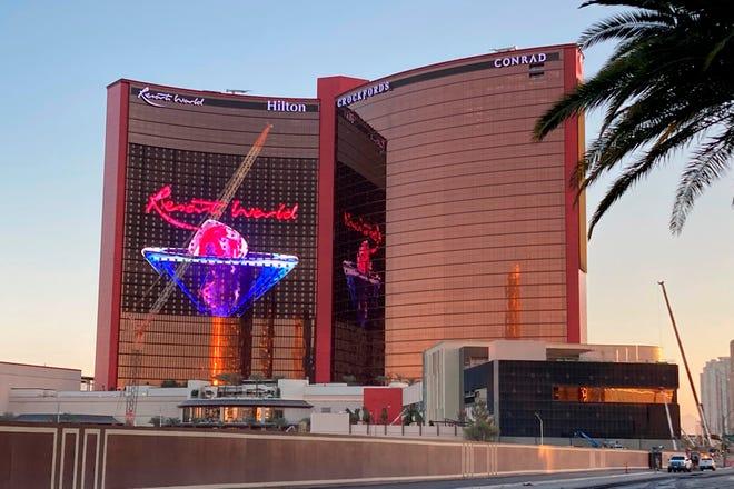 Resorts World Las Vegas towers over Las Vegas Boulevard on Thursday. The $4.3 billion resort is due to open June 24.