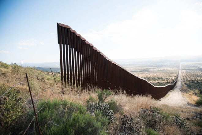 A gap in the U.S. Mexico border fence near Jacumba, Calif. on May 16, 2017.