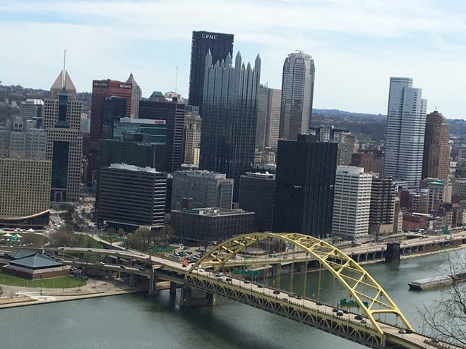 A view of downtown Pittsburgh.