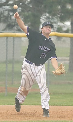 Alex Gauer of the Castlewood Ravens, a pickup player with the Brookings Cubs, won the Class A batting championship in the 89th South Dakota State Amateur Baseball Tournament that concluded Sunday in Mitchell. Gauer batted .571 (8-for-14) over two weekends in the state A tourney.