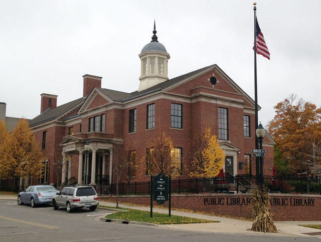 The Petoskey District Library is shown.
