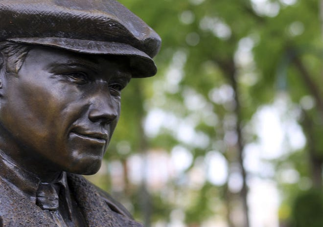 A statue of a young Ernest Hemingway stands in Petoskey's Pennsylvania Park. File photo