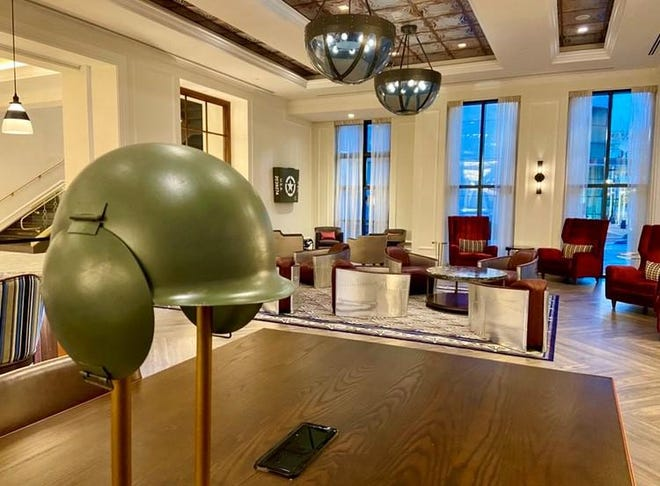 Tasteful but powerful theming at The Higgins and authentic items evoke the American WWII experience.