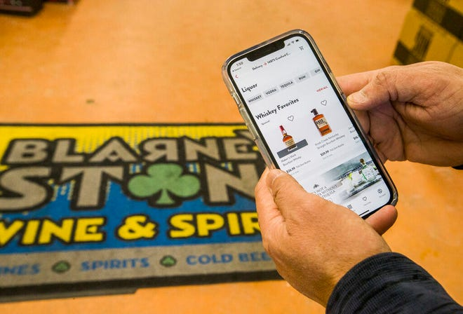 Local liquor store chain Blarney Stone Wine and Spirits has opted to offer a new alcohol delivery service through a third-party app called Drizly that provides a mobile ordering system.