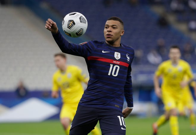 French forward Kylian Mbappe is one of many reasons why France enters Euro Cup 2021 as betting favorites. The tournament begins Friday and ends July 11.
