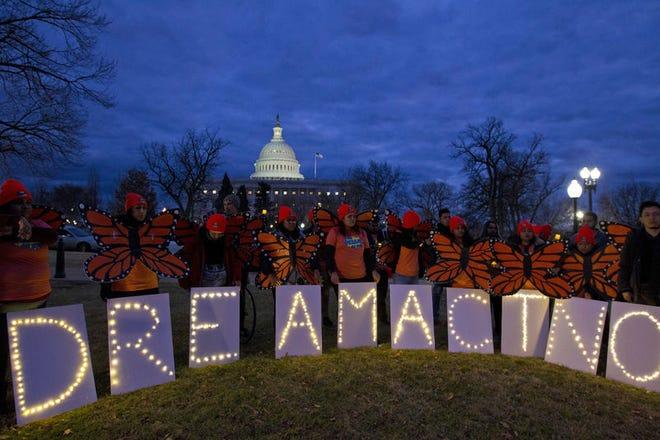 Protestan a favor del Dream Act.