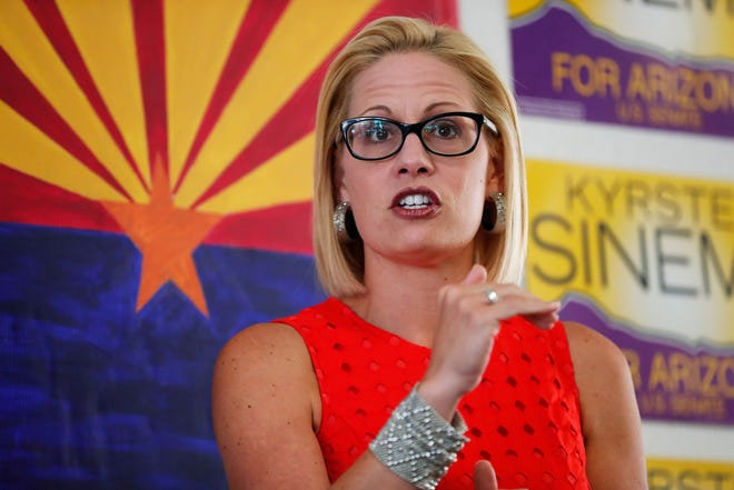 Arizona Sen. Kyrsten Sinema did not vote on legislation to create a Jan. 6 commission.