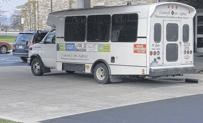 FILE PHOTOThis bus is part of the Friendship Centers of Emmet County's transit program.