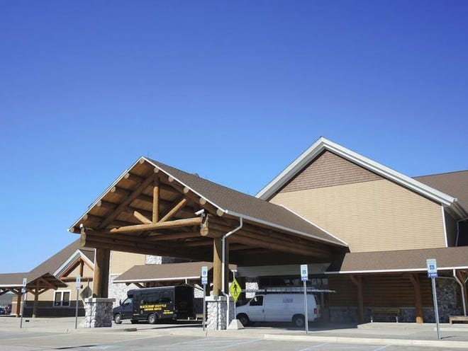 Pellston Regional Airport's passenger terminal is shown.