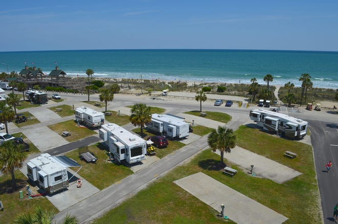 Campsites with an ocean view