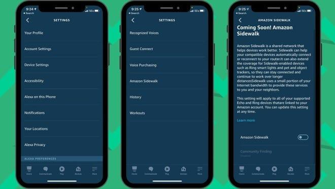 You can turn off Amazon Sidewalk in the Settings area of the Amazon Alexa app.