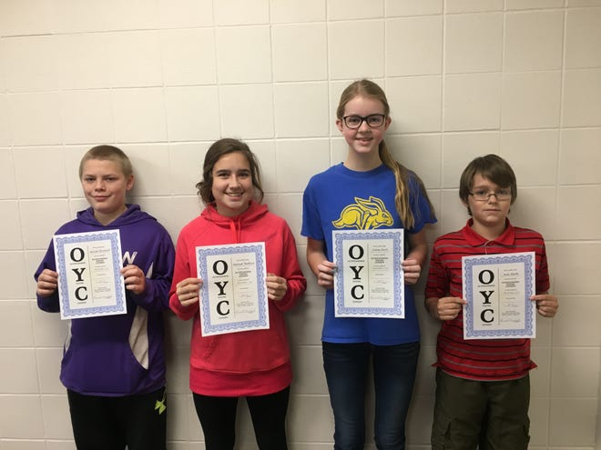 From left, Miickel Brownell, Hannah Walburg, Emma Koch and Sean Marks were named Watertown Middle School's November eighth grade Students of Month. (Courtesy photo)
