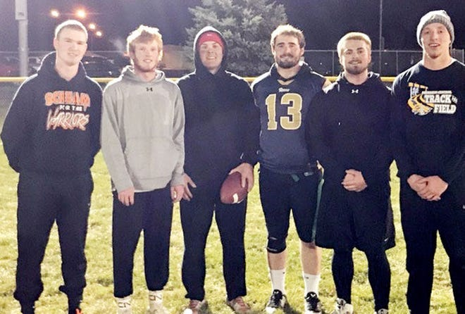 Cleveland won the Recreational League championship in the Watertown Park and Rec's 6 on 6 Flag Football League that concluded Tuesday night. Team members include, from left, Nathan Day, Hunter Johnson, Boston Knippling, Austin Handel, Jacob Dargatz and Dylan Vincent. Not pictured are Darin Tschetter and Ethan Jorgensen. (Courtesy photo)