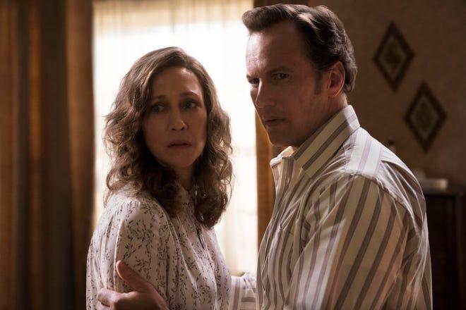 "Vera Farmiga and Patrick Wilson star in ""The Conjuring: The Devil Made Me Do It."""